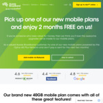 2 Months Free 4G 100GB Mobile Plans (Normally $69/Month) for New & Existing Customers with Active Services @ Aussie Broadband