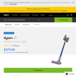 Dyson V7 Motorhead Origin Vacuum $379 @ Dyson and Catch