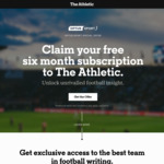 Free Six Month Subscription to The Athletic via Optus Sport