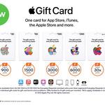 30x Bonus Everyday Rewards Points on Apple Gift Cards (Excluding $20 Card) @ Big W