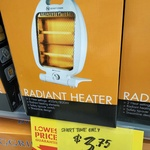 Ringgrip Radiant Heater 400/800W $3.75 (Save $11.25) @ The Reject Shop
