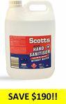 Scotts Hand Sanitiser 5 Litre Bottle $10 + Delivery or 2 for $20 Delivered @ Healthcare Xpress