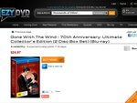Gone with The Wind - 70th Anniversary Ultimate Collector's Edition [Blu-Ray] - $24.97 + Shipping