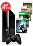 Xbox 360 250GB Console + 4 Games @ EBGAMES $249