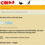 Ski Rider Motel at 2013 Prices $136-$199 (Not Inc Breakfast & Dinner)