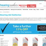 Discount Hearing Aid Batteries - Save $5 Online When You Spend $50 @ HearingSavers