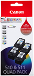 Canon 510/511 Ink Cartridge Quad Pack $70 (or $66) @ Big W.