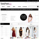Boohoo.com 25% off All Dresses Starting from $9. Free Shipping with $35+ Spend
