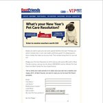 Free $10 Voucher for Best Friends Pet Stores