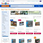 Lego Buy 1 Get 1 Half Price @ Toys R Us (Selected Lego Brands)