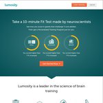 Lumosity - Enjoy 40% off Their Family Plan. 5 Accounts. $5/Month for 1 Yr or $3.75/M for 2 Yrs