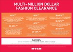 Myer Multi-Million Dollar Clearance 30-50% off Selected Brands