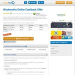 $25 Cashback @ Woolworths Online (New Customers only) via PricePal (Min $120 Spend)
