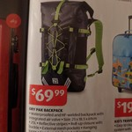 Aldi Crane 'Dry Pak' Backpack (Special Buys Saturday 2nd July) $69.99