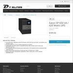 Eaton 5P 650 VA / 420 Watts UPS - $369 @ DF IT Solutions (In-Store - Malvern VIC)