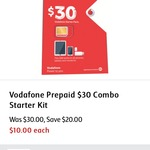 Vodafone Prepaid $30 Starter Pack Now $10 @ Coles in Store ONLY