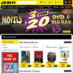 20% off Blu-Ray & DVDs - Online Now - Instore from 25/01/2017 @ JB Hi-Fi