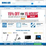 15% off for 15 Hours @ Bing Lee