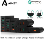 AUKEY Quick Charge 3.0 6-Port USB Travel Quick Charger Universal Charger US $23.58 ($29.79AUD) or US $23.19 with App @ AliExpres