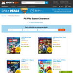PS Vita LEGO Games Clearance $9 + Delivery $4.99 @ Mighty Ape