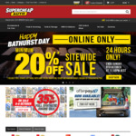20% off SiteWide @ Supercheap Auto (Online Only off Full Priced Items)