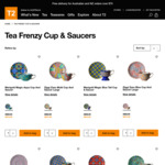 T2 TeaFrenzy - Selected Cup&Saucer Sets Now $15