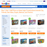 Toys R Us LEGO - Buy 1 Get 1 Half Price in Store and Online