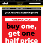 Buy One, Get One Half Price - Storewide @ Rebel Sport (Bondi, Rockdale, Eastgardens, Hurstville, Miranda & Randwick NSW)