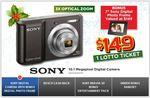 "Sony Cybershot Digital Camera with Bonus 7"" Sony Photo Frame for $149.00 PLUS Bonus Lotto Ticket"