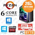 AMD Ryzen 5 1600X 4.0GHz, 16GB DDR4, 256GB M.2, 1TB HDD, RX570 4GB Gaming PC ($1175 Delivered) @ PC Byte eBay
