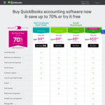 QuickBooks Online - 70% off for 12 Months [Simple Start $4 50/Mth