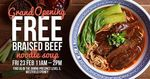 [NSW] Free Signature Beef Noodle Soup from 11am-2pm 23rd Feb @ SooZee23