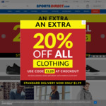20% off All Clothing @ SportsDirect