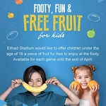 [VIC] Free Fruit for Kids at AFL Games @ Etihad Stadium