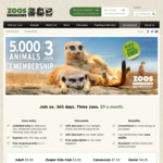 [VIC] 10% off Zoos Victoria Memberships (Renewals and New Sign-ups) Starting at $8.10 /mth for Adults