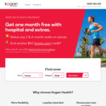 Kogan Hospital & Extras Health Insurance - One Month Free and $60 Kogan Credit (ahm Members Ineligible)