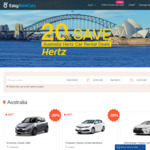 20% off Australia Car Rental Deals with Hertz from A$28.97/Day @EasyRentCars
