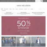 50% off Sitewide + Free Delivery over $100. Business Shirts from $17.50 @ Van Heusen