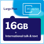 Lebara Large Plan – 180 Day Starter Pack for $109 - 16GB Data and 180 Days Unlimited Calls to 18 Selected Countries