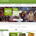 40% off Kathmandu Branded Gear for Members + Free Membership with Any Purchase