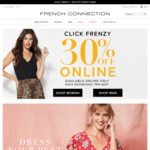 30% off Sitewide (Free Express Shipping on Orders over $75) @ French Connection Australia