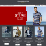 Buy 2 Get 1 FREE Any Items + Free Shipping @ Stafford Ellinson Menswear - Suits, Business Shirts, Casual Clothing