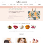 40% off Sitewide (Excluding Limited Edition Items) Free Shipping Min Order $50 @ Nude by Nature