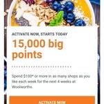 Earn 15000 Woolworths Rewards after Spending $100 Per Week for 4 Weeks