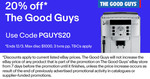 20% off Storewide @ The Good Guys eBay