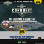 Warhammer 40000 'Conquest' - 3 Miniatures, 3 Paints, Brush - $5.00 @ Newsagents