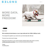 Belong Mobile Data Increases on $25 and $40 Plans