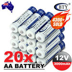 20AA + 20AAA Rechargeable Batteries for $24.66 Delivered @ au_bravo eBay