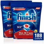 [Amazon Prime] Finish Powerball All in 1 Max Dishwasher Tablets, 188 Pack (2x94) $32.50 Delivered @ Amazon AU