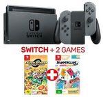 [eBay Plus] Nintendo Switch Grey Console + 2 Games (New 2019 Model) - $398.65 + $6.95 Delivery @ EB Games eBay
